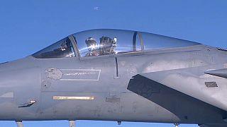 NATO warplanes fly over North Sea
