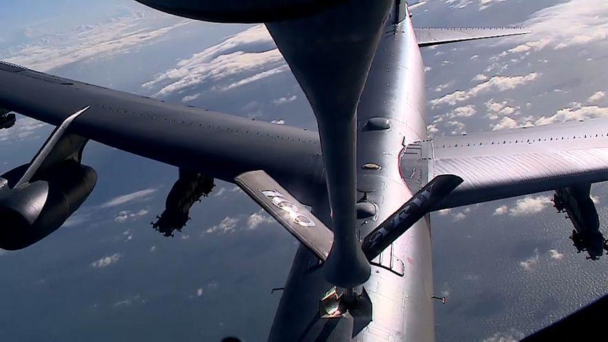 Дозаправка Б-52 в воздухе