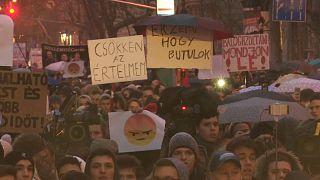 Венгерская молодежь против политики Орбана
