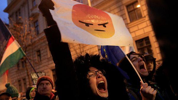 Eğitim reformu isteyen Macar öğrenciler meydanlarda