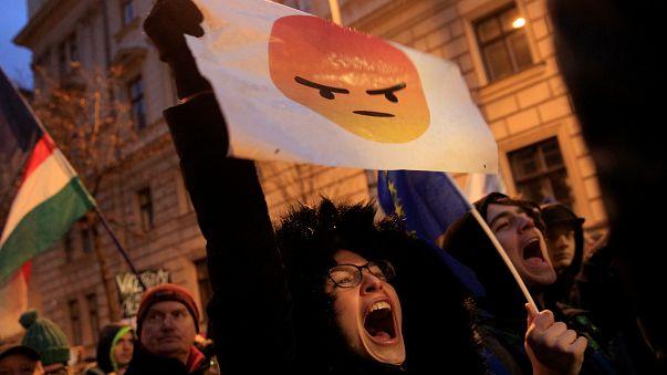 Schüler in Budapest demonstrieren für eine bessere Bildungspolitik