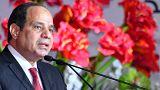 Ägypten Präsident Abdel Fattah Al-Sisi bei einer Konferenz