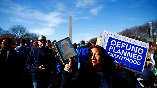 Washington sokaklarında 'kadın'a dair eylemler