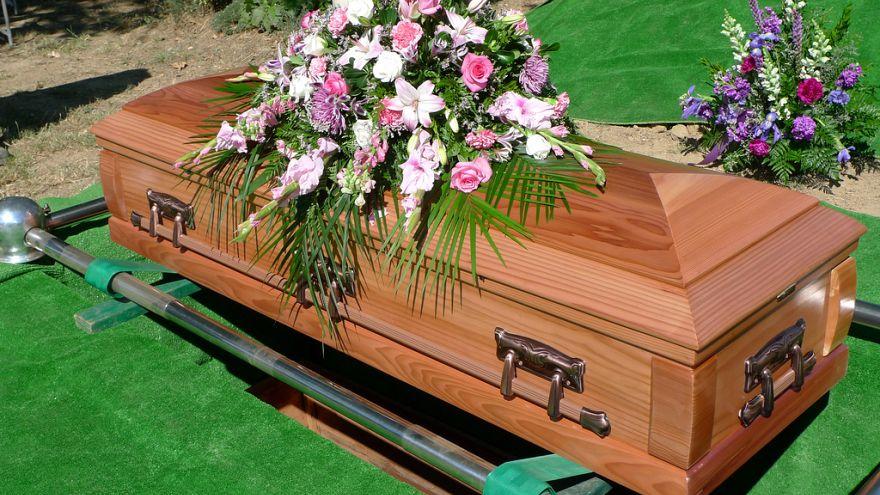Ava Nell's coffin