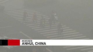 Nordosten Chinas versinkt im Nebel