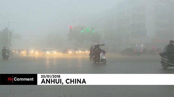 Sűrű köd Kínában