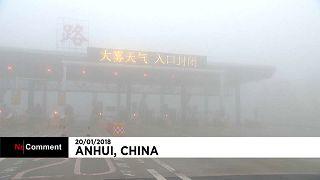 Nevoeiro na China fecha autoestradas