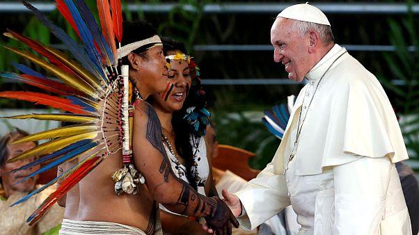 دیدار پاپ فرانسیس با بومیان آمازون