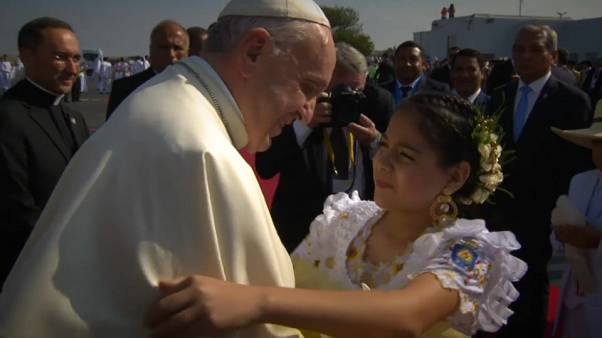 Pope Francis visits northern Peru to console thousands of flood-hit people