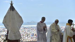 Le pape François au chevet des victimes d'El Niño