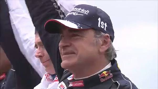 Carlos Sainz ünnepel