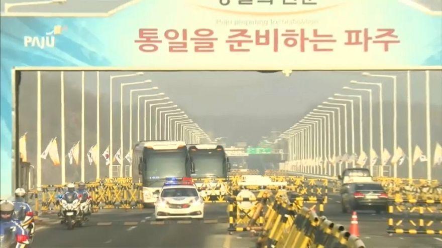 Pyeongchang 2018: delegazione nordcoreana in Corea del Sud