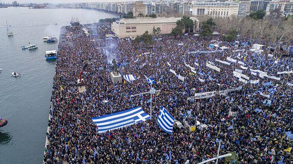Θεσσαλονίκη: Συλλαλητήριο για τη Μακεδονία