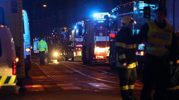 Footage shows deadly hotel blaze in Prague