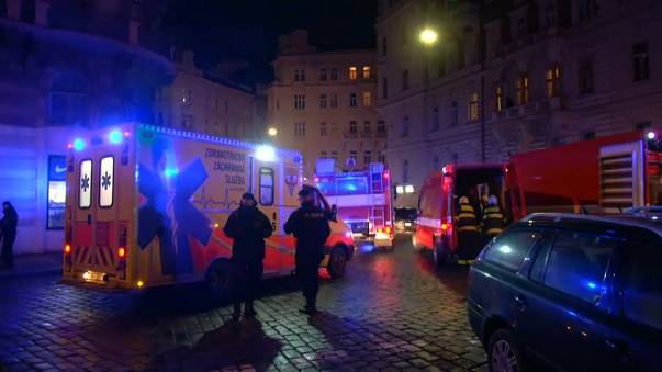 At least four people dead following a fire at hotel in central Prague