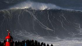 موج سوار پرتغالی بر یک موج ۳۵ متری سوار شد