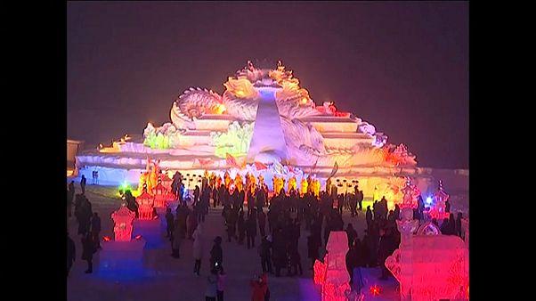 Doğu Türkistan'da Kar ve Buz Festivali