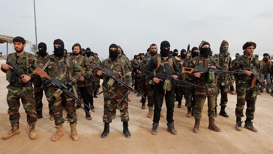 """Бойцы """"Свободной сирийской армии"""" в Аазазе"""