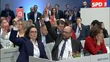 SPD congress clears leaders to talk coalitions with Angela Merkel