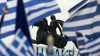 Manifestation pour la défense de la Macédoine