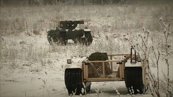 Estonya'da savaş robotları tatbikatı