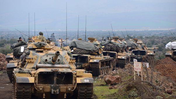 """Confrontos entre exército turco e rebeldes curdos na Operação """"Ramo de Oliveira"""""""