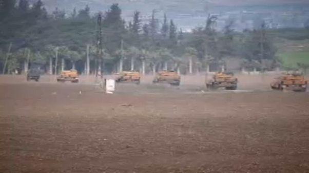 Török tankok Szíriában