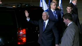 Mike Pence is given a warm welcome in Israel but Palestinians boycott his visit