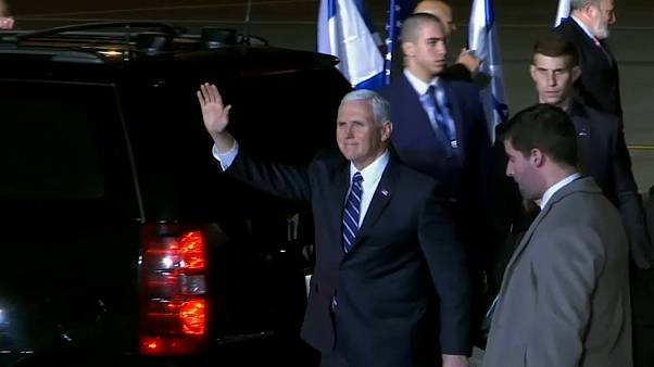 Pence arrives in Israel on third leg of MidEast tour