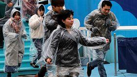 اولین مانور آمادگی برای مقابله با حمله موشکی احتمالی کره شمالی در توکیو برگزارشد