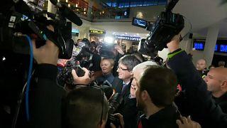 Carles Puigdemont arrives in Denmark