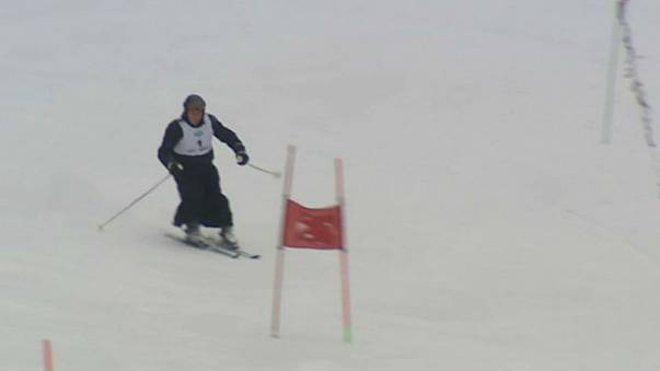 Polish priests hit the slopes