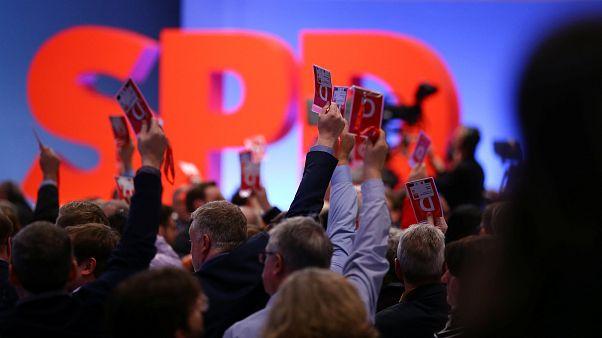 Knappes Ergebnis auf dem SPD-Parteitag