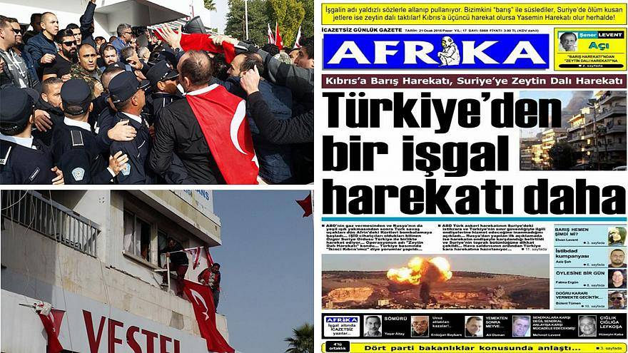 KKTC'de Afrika Gazetesine Saldırı