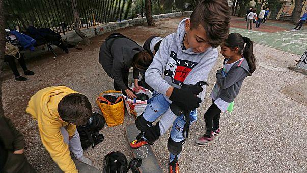 اليونان: تعليم أطفال اللاجئين التزلج من أجل التغلب على مصاعب الحياة