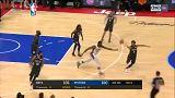 NBA: győztes kosár 0,9 másodperccel a vége előtt