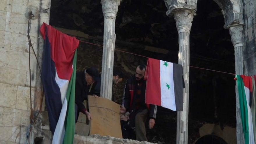 La actividad vuelve tímidamente al mercado de Alepo