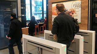Customer leaves Seattle Amazon go store without paying at cash till