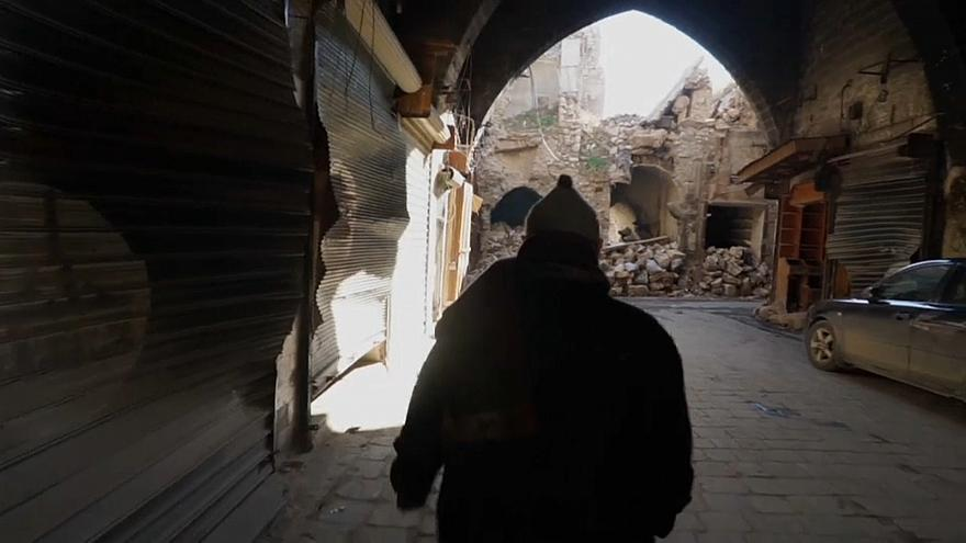 Shops reopen in Aleppo market – or what's left of it