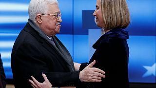 Palästinenserpräsident Abbas und EU-Außenbeauftragte Mogherini