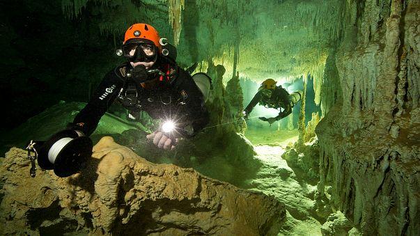 شاهد: المكسيك.. اكتشاف أكبر كهف تحت الماء في العالم