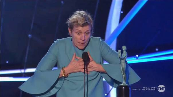 Frances McDormand wins Best Actress statuette at SAG awards