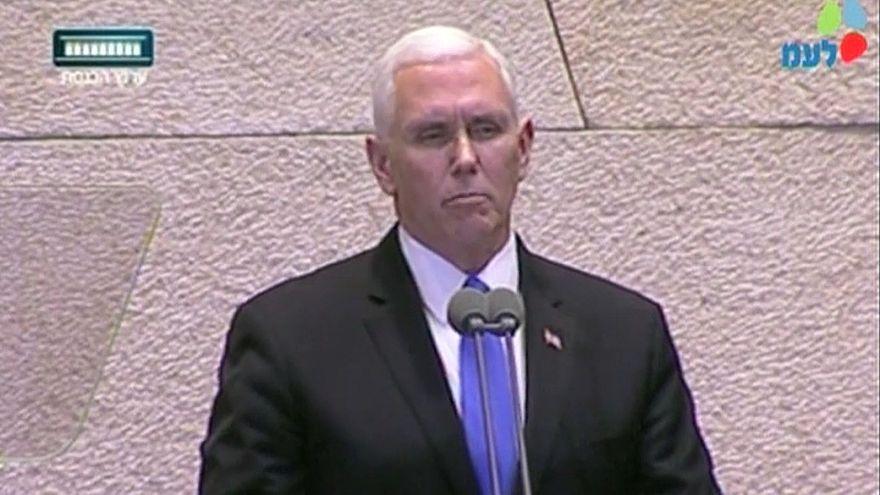 Mike Pence spricht vor der Knesset