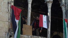 """""""خان الجمرك"""" أقدم أسواق حلب  ينفض غباره ويفتح أبوابه"""