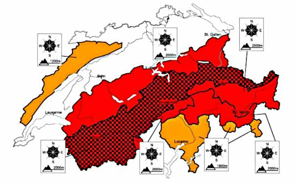 The avalanche risk on January 22nd, 2018.