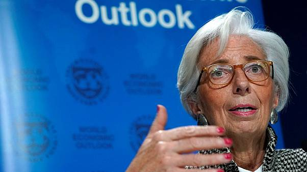 IMF Managing Director Christine Lagarde, in Davos, Switzerland, January 22