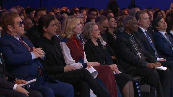 Elton John, Shah Rukh Khan and Cate Blanchett at Davos opening ceremony