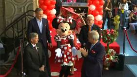 Minnie Mouse immortalised on Hollywood's Walk of Fame