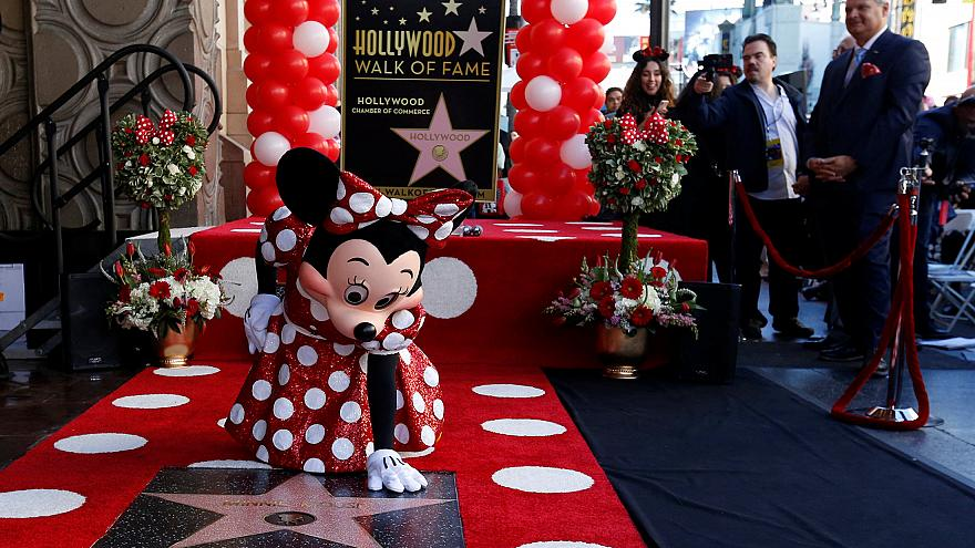 Minnie egér is csillagot kapott Hollywood-ban