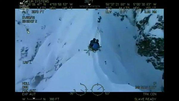 نجات معجزه آسای دو اسکیباز در اسکاتلند